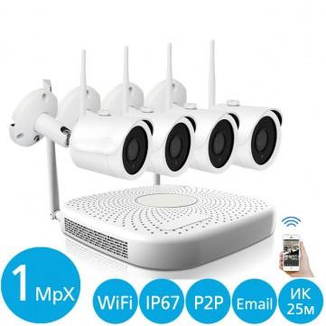 Беспроводной набор видеонаблюдения IVUE-W5004-720-B4