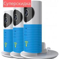 Комплект из 3-х беспроводных видеокамер Clever Dog (Верный Пес) с функцией Wi-Fi, P2P